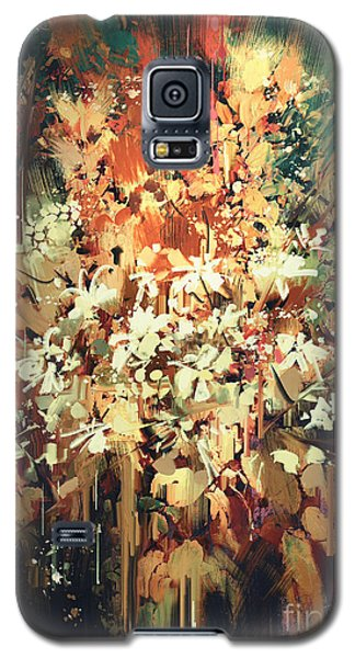 Abstract Flowers Galaxy S5 Case