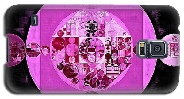 Galaxy S5 Case featuring the digital art Abstract Painting - Lavender Magenta by Vitaliy Gladkiy