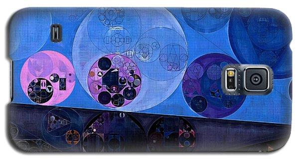 Galaxy S5 Case featuring the digital art Abstract Painting - Saint Patrick Blue by Vitaliy Gladkiy