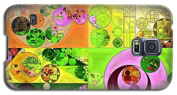 Galaxy S5 Case featuring the digital art Abstract Painting - Turtle Green by Vitaliy Gladkiy