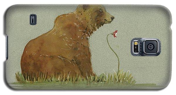 Brown Bear Galaxy S5 Case - Alaskan Grizzly Bear by Juan Bosco