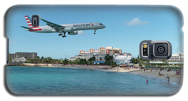 American Airlines Landing At St. Maarten Galaxy S5 Case by David Gleeson