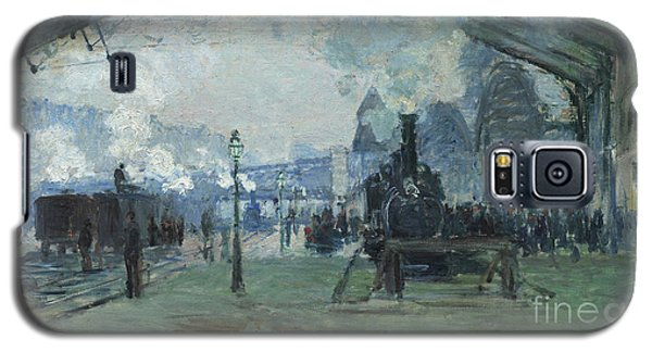 Arrival Of The Normandy Train Gare Saint-lazare Galaxy S5 Case by Claude Monet