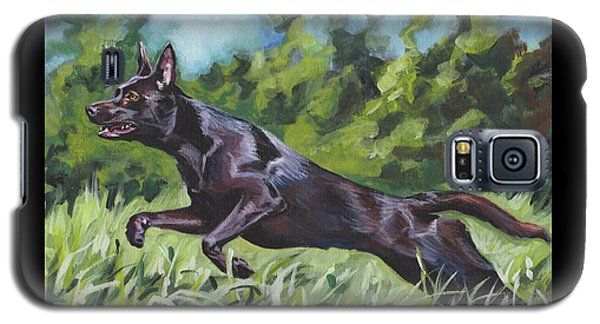 Galaxy S5 Case featuring the painting Australian Kelpie by Lee Ann Shepard