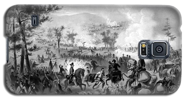 Galaxy S5 Case featuring the drawing Battle Of Gettysburg by War Is Hell Store