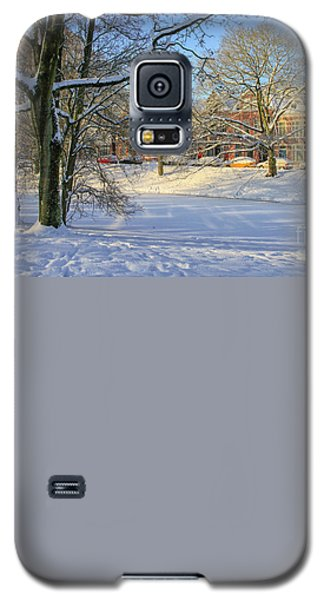 Beautiful Park In Winter With Snow Galaxy S5 Case