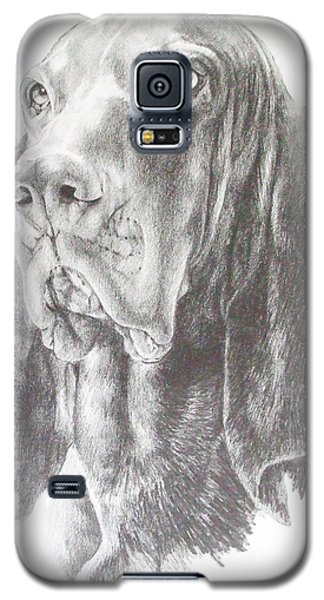 Galaxy S5 Case featuring the drawing Black And Tan Coonhound by Barbara Keith