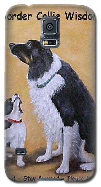 Border Collie Wisdom Galaxy S5 Case