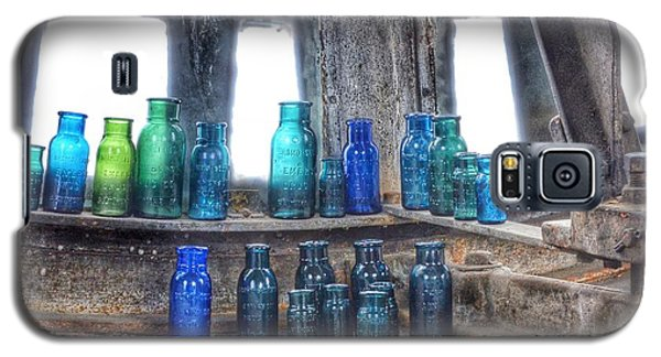 Galaxy S5 Case featuring the photograph Bromo Seltzer Vintage Glass Bottles  by Marianna Mills