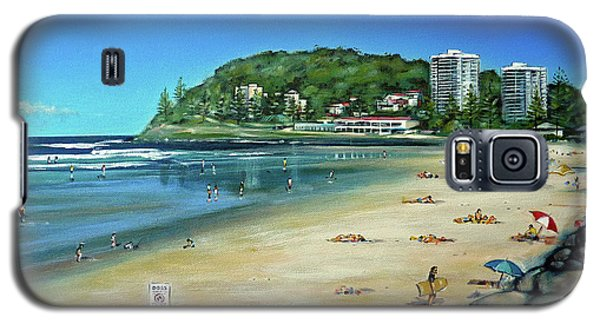 Galaxy S5 Case featuring the painting Burleigh Beach 100910 by Selena Boron