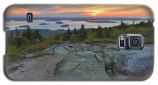 Galaxy S5 Case featuring the photograph Cadillac Mountain Sunrise by Stephen  Vecchiotti
