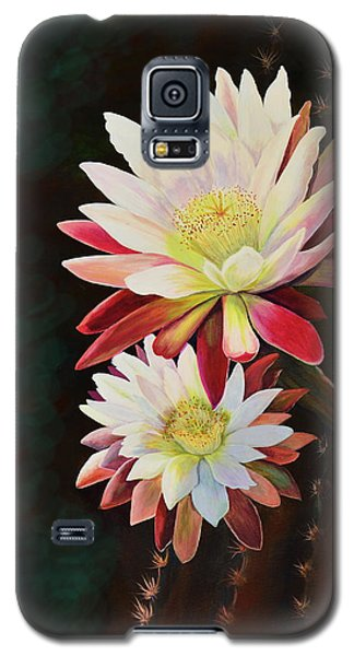 Galaxy S5 Case featuring the painting Cereus Business by Marilyn Smith