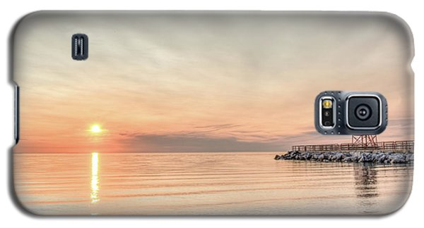 Charelvoix Lighthouse In Charlevoix, Michigan Galaxy S5 Case by Peter Ciro