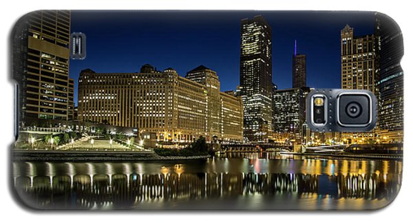 Chicago River And Skyline At Dawn Galaxy S5 Case
