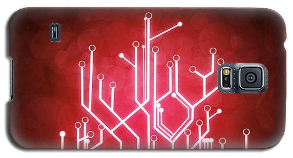 Circuit Board Galaxy S5 Case by Setsiri Silapasuwanchai