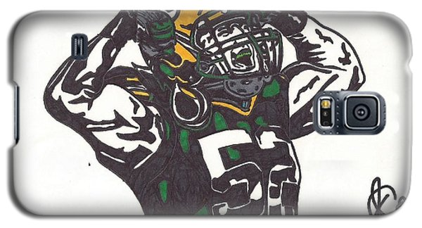 Galaxy S5 Case featuring the drawing Clay Matthews 2 by Jeremiah Colley