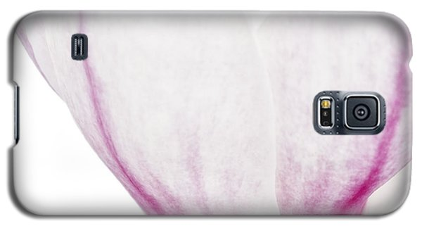 Galaxy S5 Case featuring the photograph Abstract White Red Pink Flowers Macro Photography Art Work by Artecco Fine Art Photography