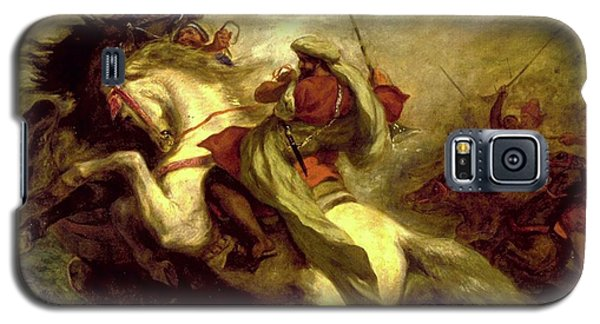 Galaxy S5 Case featuring the painting Collision Of Moorish Horsemen by Eugene Delacroix