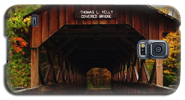 Covered Bridge At Allegany State Park Galaxy S5 Case
