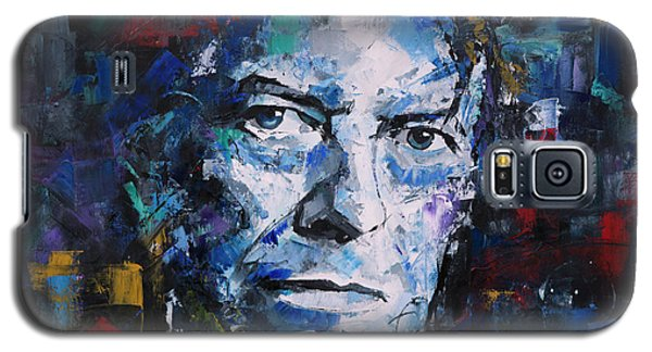 Galaxy S5 Case featuring the painting David Bowie by Richard Day