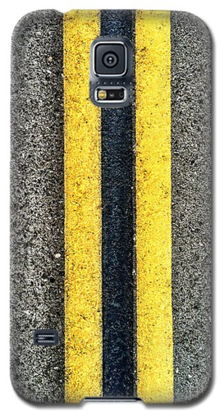 Double Yellow Road Lines Galaxy S5 Case