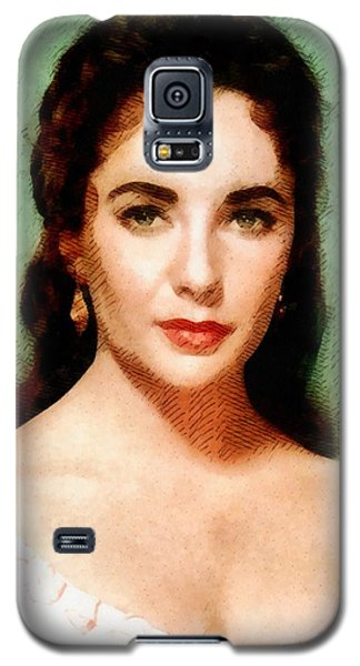 Elizabeth Taylor Hollywood Actress Galaxy S5 Case by John Springfield