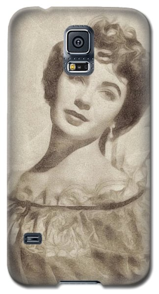 Elizabeth Taylor, Vintage Hollywood Legend By John Springfield Galaxy S5 Case by John Springfield
