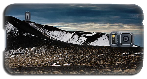 Galaxy S5 Case featuring the photograph Etna, Red Mount Crater by Bruno Spagnolo
