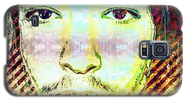 Galaxy S5 Case featuring the mixed media Ezra Miller by Svelby Art