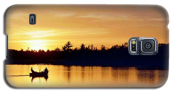 Fishermen On A Lake At Sunset Galaxy S5 Case