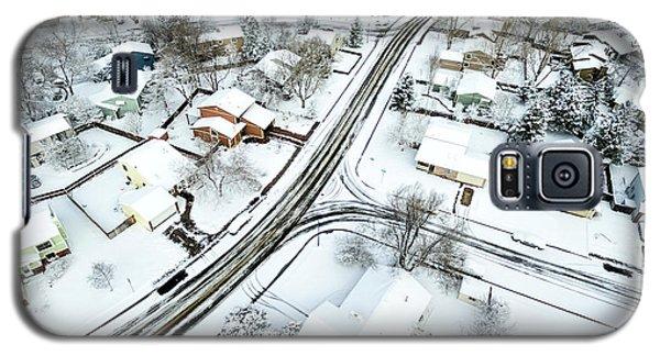 Fort Collins Winter Cityscape Galaxy S5 Case by Marek Uliasz
