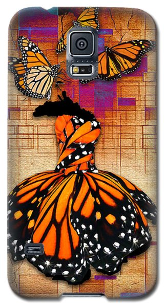 Galaxy S5 Case featuring the mixed media Freedom To Be by Marvin Blaine