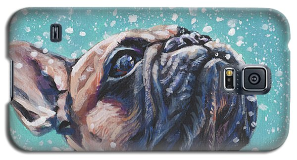 Galaxy S5 Case featuring the painting French Bulldog by Lee Ann Shepard