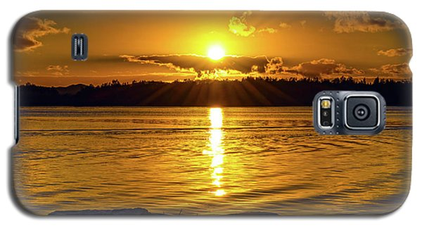 Golden Sunrise Waterscape Galaxy S5 Case