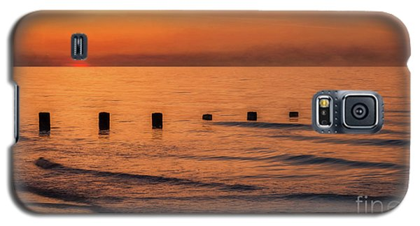 Galaxy S5 Case featuring the photograph Golden Sunset by Adrian Evans
