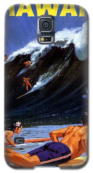 Hawaii Vintage Travel Poster Restored Galaxy S5 Case