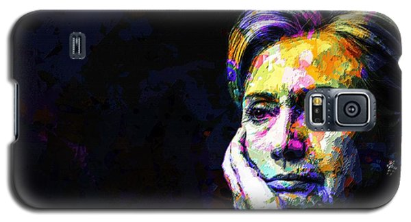 Galaxy S5 Case featuring the mixed media Hillary Clinton by Svelby Art
