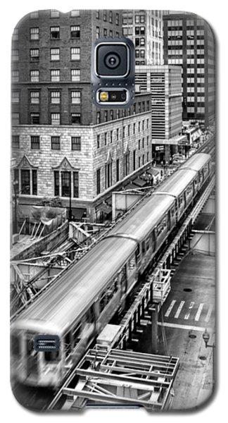 Historic Chicago El Train Black And White Galaxy S5 Case