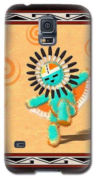 Galaxy S5 Case featuring the digital art Hopi Sun Face Kachina by John Wills