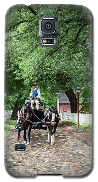 Horse Drawn Wagon Galaxy S5 Case