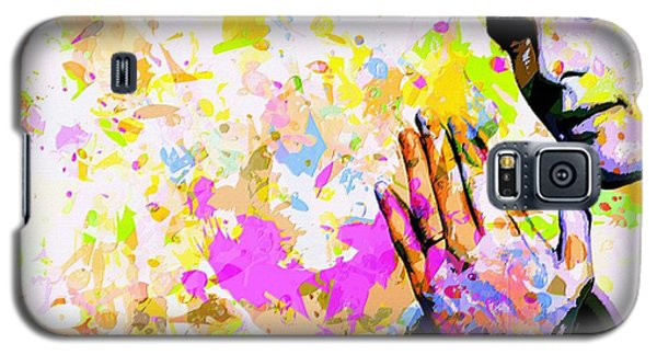 Galaxy S5 Case featuring the mixed media Kaka by Svelby Art