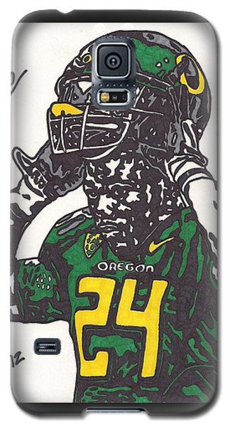 Galaxy S5 Case featuring the drawing Kenjon Barner 1 by Jeremiah Colley