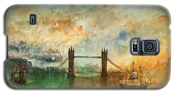 London Watercolor Painting Galaxy S5 Case by Juan  Bosco
