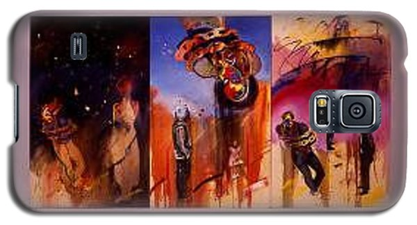 Galaxy S5 Case featuring the painting Love Hurts by Charles Stuart
