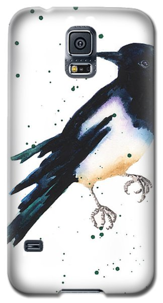 Magpie Painting Galaxy S5 Case by Alison Fennell