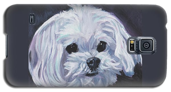 Galaxy S5 Case featuring the painting Maltese by Lee Ann Shepard