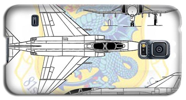 Galaxy S5 Case featuring the digital art Mcdonnell Douglas F-4d Phantom II by Arthur Eggers