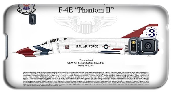 Galaxy S5 Case featuring the digital art Mcdonnell Douglas F-4e Phantom II Thunderbird by Arthur Eggers