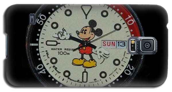 Mickey Mouse Watch Face Galaxy S5 Case by Rob Hans