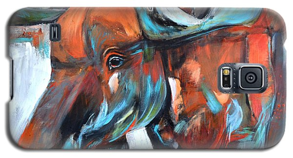 Galaxy S5 Case featuring the painting Moose by Cher Devereaux